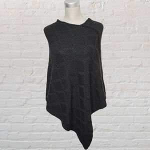 Cocogio Italy wool blend poncho O/S